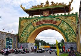 cổng khu du lịch giang điền